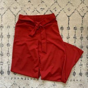 Wide leg pants - fiery red!